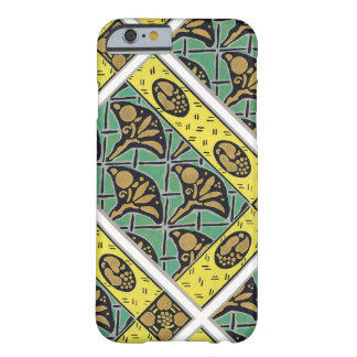 Retro Abstract Shades of Green Tiles Barely There iPhone 6 Case