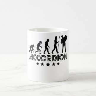 Retro Accordion Evolution Coffee Mug