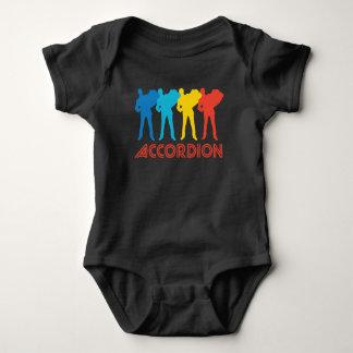 Retro Accordion Pop Art Baby Bodysuit