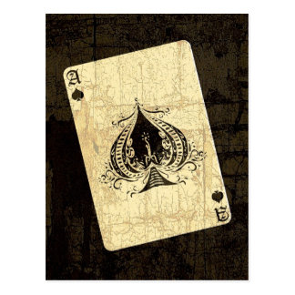 Retro Ace of Spades Postcards