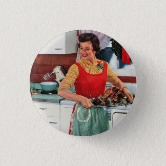 Retro ad - 1950s vintage housewife 3 cm round badge
