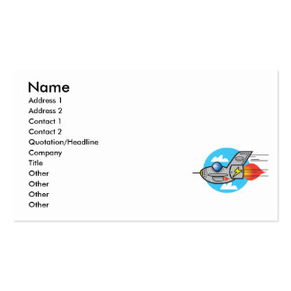 retro aeroplane jet pack of standard business cards