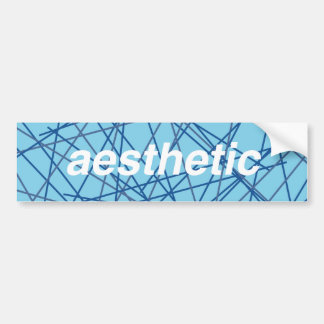 Retro Aesthetic Bumper Sticker! Bumper Sticker