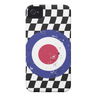 Retro Aged mod target on Checks iPhone 4 Covers