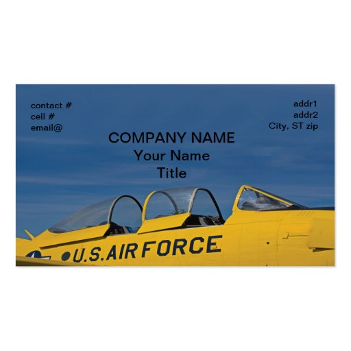 Retro Air Force Business Cards
