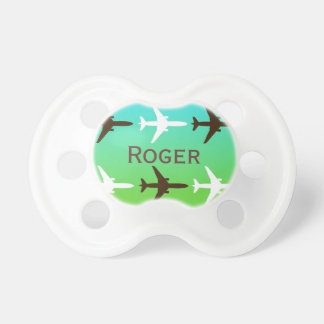Retro Airplaine Baby Pacifiers