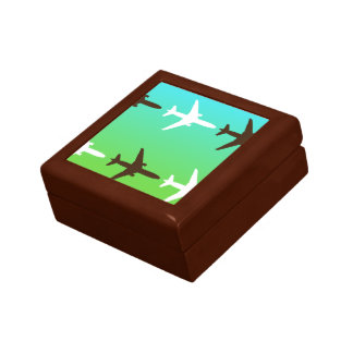 Retro Airplaine Small Square Gift Box