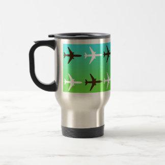 Retro Airplaine Stainless Steel Travel Mug