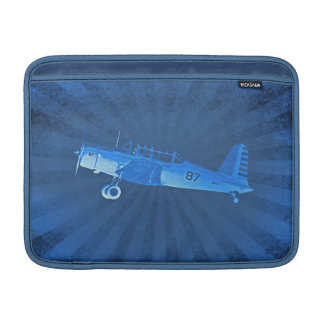 Retro Airplane #87 Blue Macbook Air Sleeve