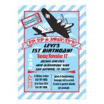 Retro Airplane Birthday Party Invitations