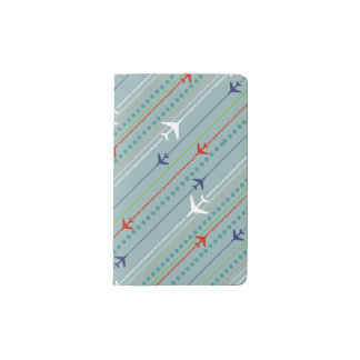 Retro Airplane Pattern Moleskine Notepad Cover Pocket Moleskine Notebook