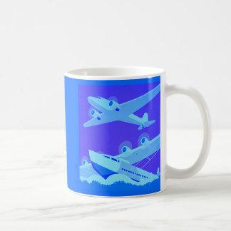 Retro Airplanes Basic White Mug