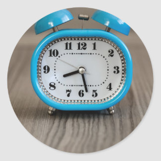 Retro Alarm Clock Classic Round Sticker