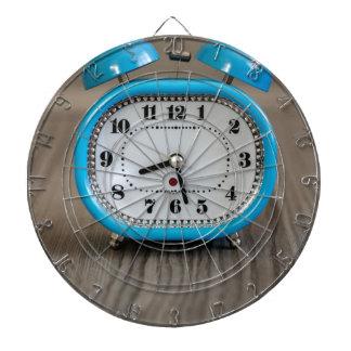 Retro Alarm Clock Dartboard With Darts