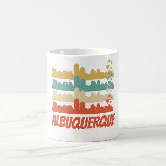 Retro Albuquerque NM Skyline Pop Art Coffee Mug