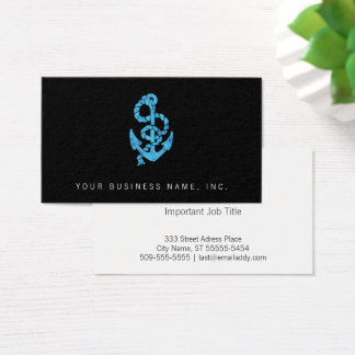 Retro Anchor with Rope Business Card