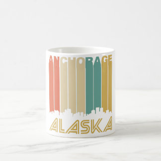 Retro Anchorage Skyline Coffee Mug
