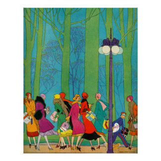 Retro and Art Deco Poster Print