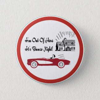 Retro and Vintage Bunco Red Convertible 6 Cm Round Badge