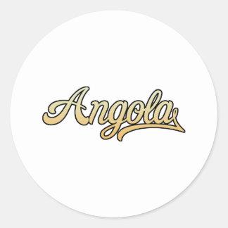 Retro Angola Classic Round Sticker