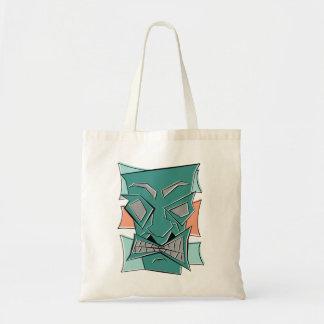 Retro Angular Tiki Mask Tote Bag