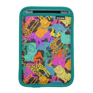 Retro Animal Silhouettes Pattern iPad Mini Sleeve