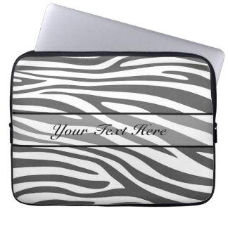 Retro animal zebra print 3 laptop computer sleeve