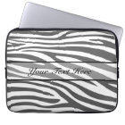 Retro animal zebra print 3 laptop sleeve