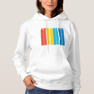 Retro Ann Arbor Michigan Skyline Hoodie