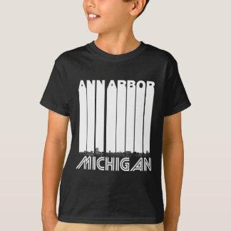 Retro Ann Arbor Michigan Skyline T-Shirt