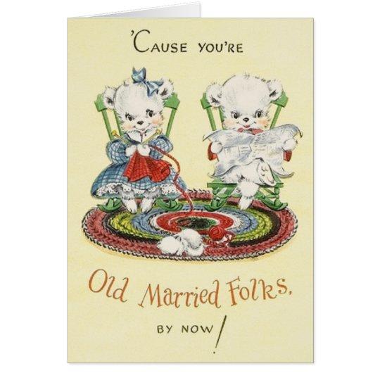 Retro Anniversary Greeting Card