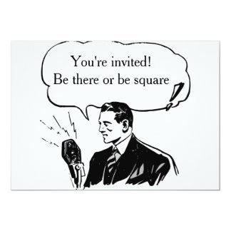 Retro Announcement or Invitation Card