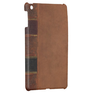 Retro Antique Book, faux leather bound brown iPad Mini Cover