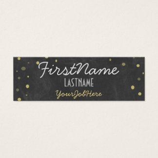 Retro Antique Chalkboard Mini Business Card