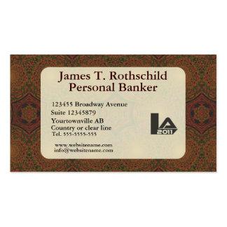 Retro antique dark brown art deco business card template