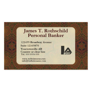 Retro antique dark brown art deco pack of standard business cards