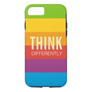 Retro Apple Colors Stripes Motivational Quotes iPhone 7 Case