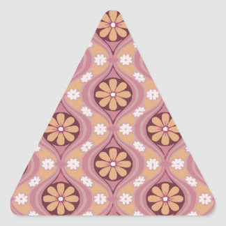 Retro Arabesque Triangle Sticker