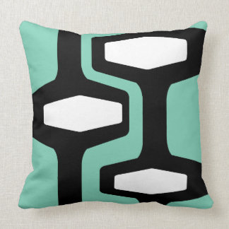 Retro Architecture Throw Pillow