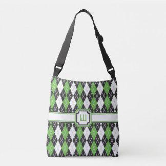 Retro Argyle All-Over-Print Bag