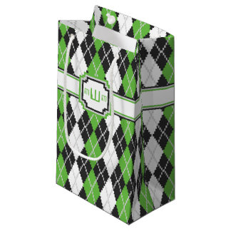 Retro Argyle Gift Bag