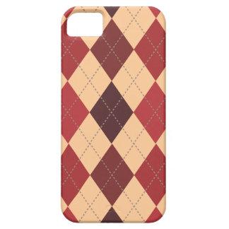 Retro Argyle Trendy Crimson Red iPhone 5 Cases