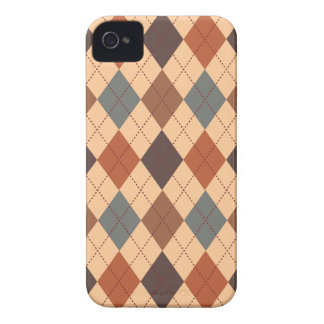 Retro Argyle Trendy Earth Tone Elegance iPhone 4 Case-Mate Case