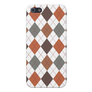 Retro Argyle Trendy Earth Tone Elegance iPhone 5/5S Cover