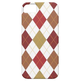 Retro Argyle Trendy Earth Tone Elegance iPhone 5 Covers