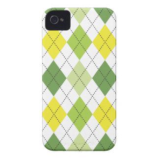 Retro Argyle Trendy Lemon Lime Fun Case-Mate iPhone 4 Case