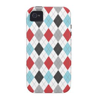 Retro Argyle Trendy Multi Vibe iPhone 4 Covers