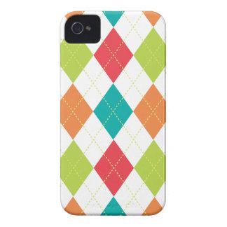 Retro Argyle Trendy Multi iPhone 4 Case