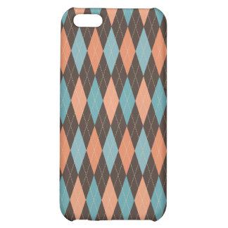 Retro Argyle Trendy Multi iPhone 5C Case