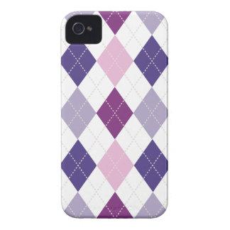Retro Argyle Trendy Pink Purple Fun Case-Mate iPhone 4 Case
